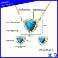 High quality necklace and earring fashion bridal jewelry sets