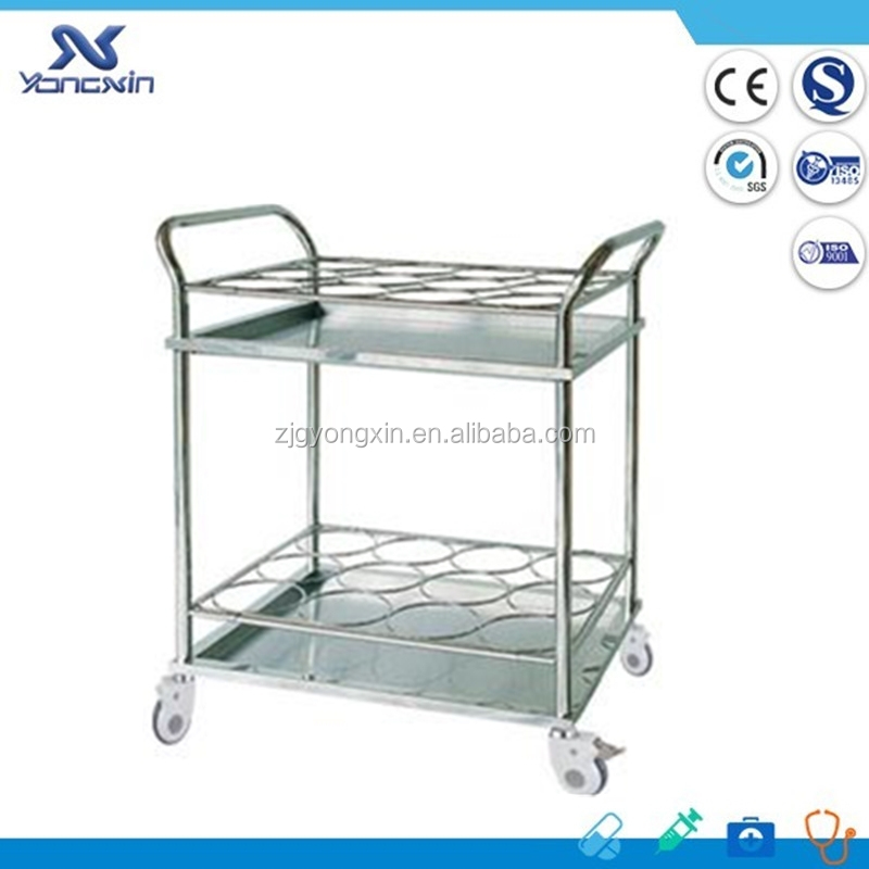 Durable Stainless Steel Water Bottle Hospital Trolley