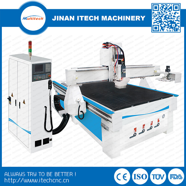 Cnc router cabinet door making machine with ATC