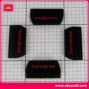 Custom PVC rubber label, silicone rubber label for pillow