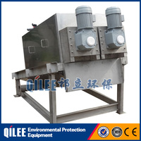 High quality oil sludge waste water dewatering equipment screw filter press