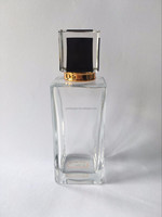 100ml square glass spray perfume bottle 15mm caliber high quality