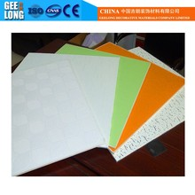 vinyl laminated decoration false ceiling tile/suspended pvc gypsum ceiling <strong>panels</strong>