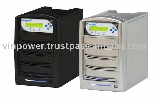SharkCopier 1 to 3 LightScribe SATA DVD / CD Duplicator with Built-in 250GB Hard Drive