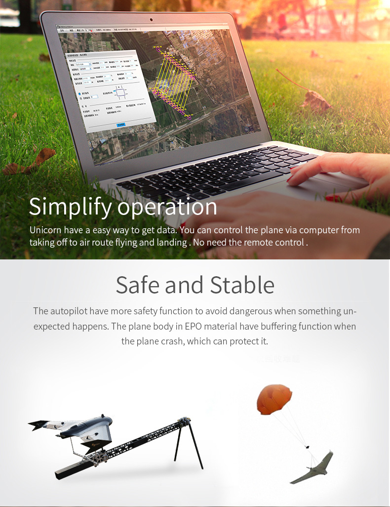 FeiyuTech Unicorn solution for aerial surveying and mapping of new fixed wing uav drone plane