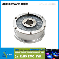 YJS-0005 IP68 high power 12W round underwater lights LED uplights