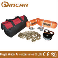 8pcs Winch Accessories 4wd recovery kits electric winch accessory kits with carry bag