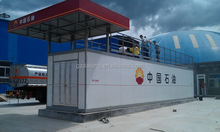 50CBM Containerized skid-mounted refueling station with tent and fire proof board from China