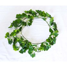 Artificial Ivy leaves plastic ivy vines grape vines/artificial plant for wall decoration