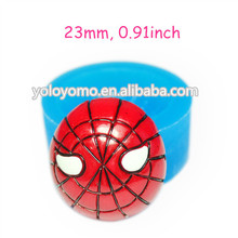 PYL264 Spider Face Mold Mask Flexible Silicone Fondant Mold 23mm - Sugarcraft Cake Decorating Miniature Food Mould, Food Safe