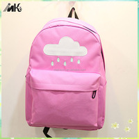 Cute cloud and raindrop design light weight waterproof backpack children bag for kids school chilren backpack for children