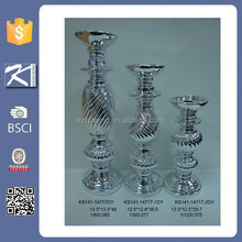 China supplier silver decorative candle holder for home decoration