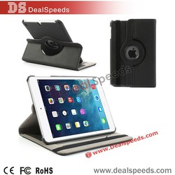 Wholesales Leather Tablet Cover Case for iPad 2 (Retina), 360 Degree Rotary & Card Slots