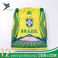 Russia World Cup non woven style brasil pattern bag drawstring with football print