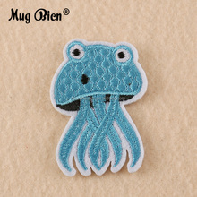 custom cute cartoon animal shaped kids clothing hat embroidery iron-on patch