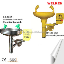 Hot sale Welken safety Industrial Carbon steel Wall Mounted emergency Eyewash station