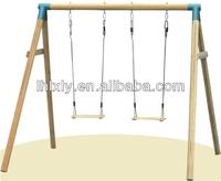 two seat garden wooden hanging chair | garden swing chair
