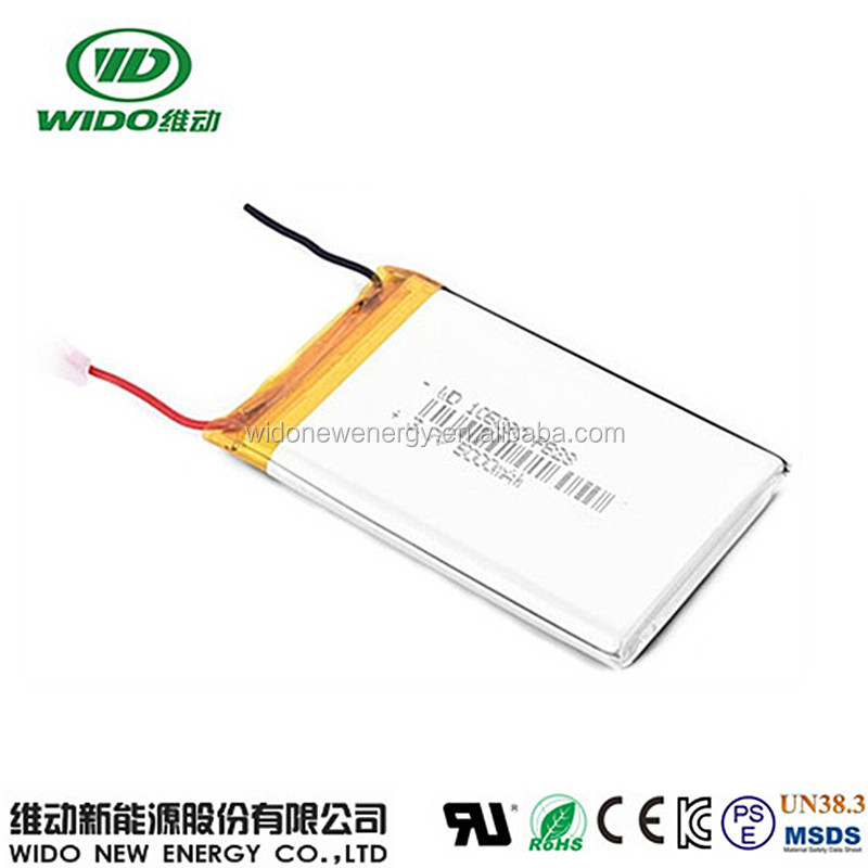 3.7v li-ion polymer battery 5000mah 105080 lithium battery pack with UL