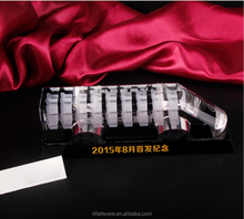 Personalized custom crystal train model for business souvenir gifts
