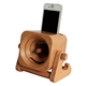 No Power Wooden Phone Speaker ,Cell Phone Dock Sound Amplifier