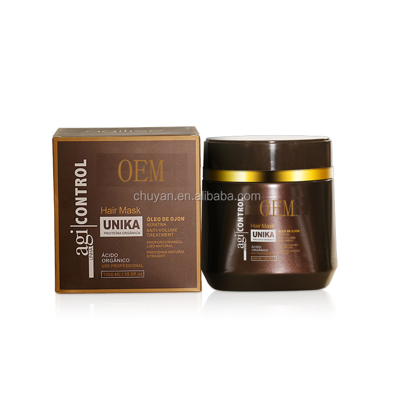 OEM/ODM Professional salon hair care keratin smoothing hair mask for frizzy hair