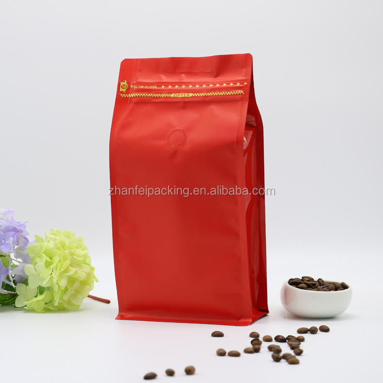 foil bag tea package / aluminum foil coffee bag with valve