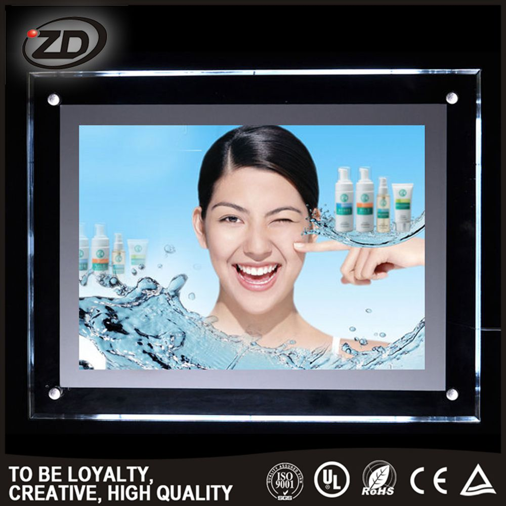 High Quality China Supplier custom logo sign crystal led light box