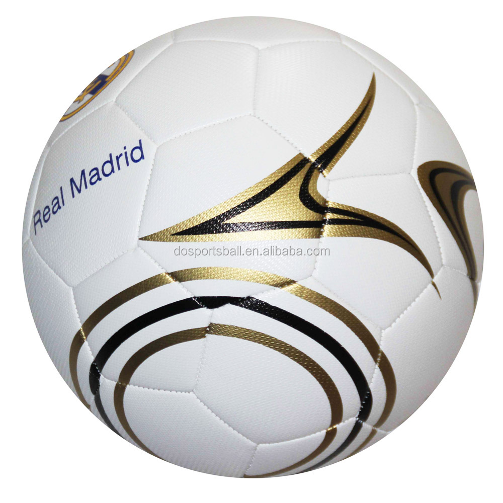 custom print cheap Machine sewn stiched PVC size 5 Soccer balls/football with new design