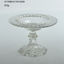 retail plain glass plate with glass base