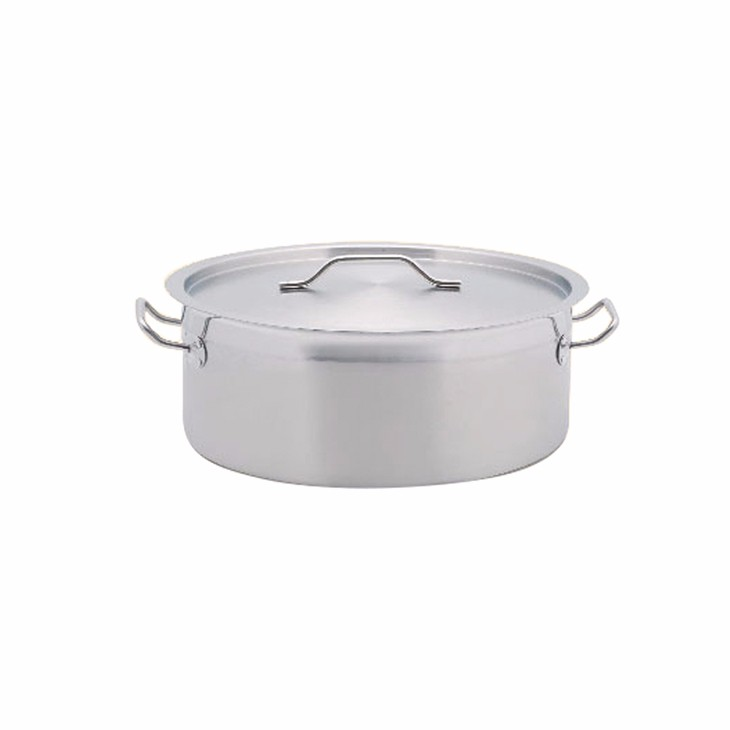 MUK hot sale restaurant cookingware set steel short body compound bottom storage pot