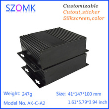 Extruded Aluminum enclosure and pcb junction box which can be customized from szomk