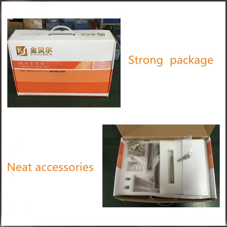 New design digital fingerprint glass door lock for sale