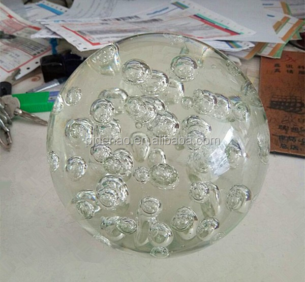 Large Bubbles K9 High Quality 150mm Crystal Bubble Ball