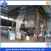3 layer 16m coextrusion ldpe agricultural greenhouse film machine