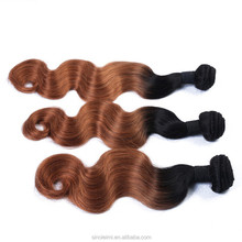 New products Peruvian Ombre Hair Body Wave, ombre color Human Hair Extensions, Ombre Virgin Hair Weave fast shipping