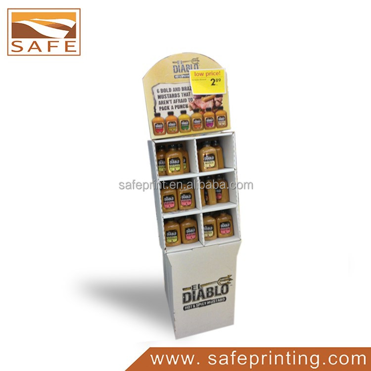 Cardboard Retail POP Shampoo Floor Diaplay Stand