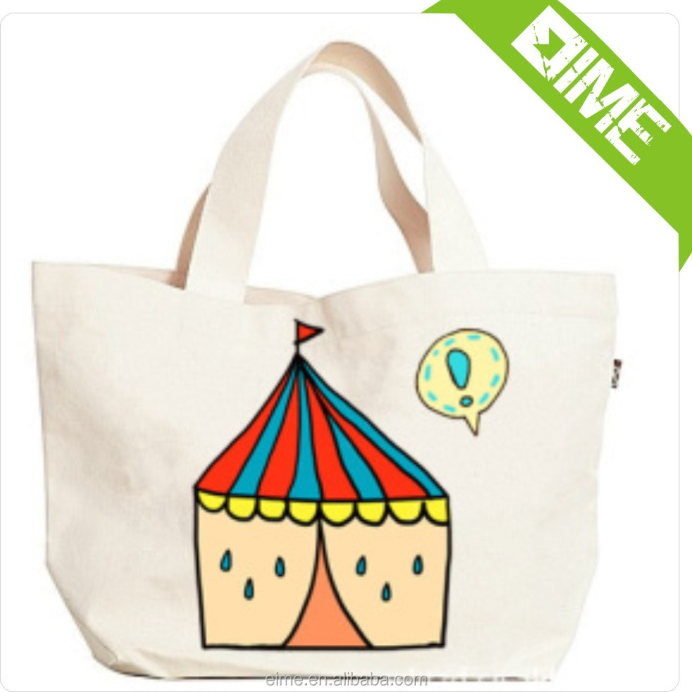 Recycle used costom canvas tote bag for sale