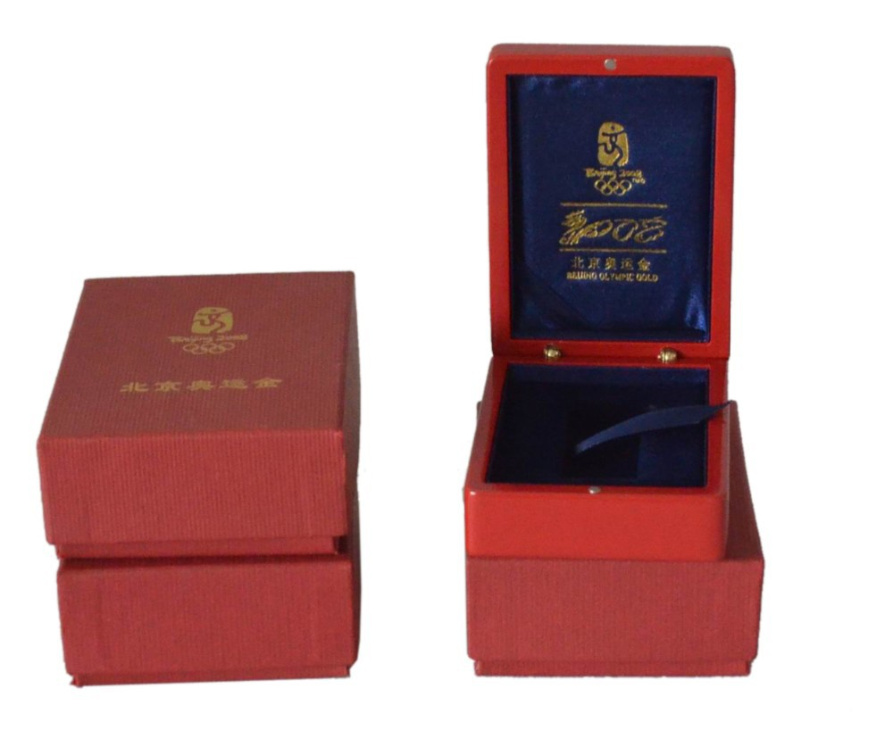wholesale wooden commemorative coin box with logo print