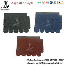 China Best Qaulity Mosaic Goethe Plain 5 Tab Laminated Roofing Shingle Type Asphalt Shingle Manufacture
