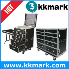Universal Utility Case/Utility Aluminium Rack Drawer Case With Wheels/Tool Case with drawer