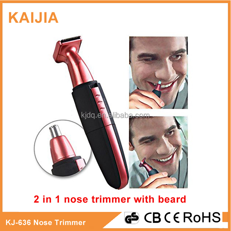 2 in 1 battery operated with Light nose trimmer with beard