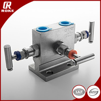 1/2 Female NPT Stainless Steel 3 Way Valve Manifold for Water