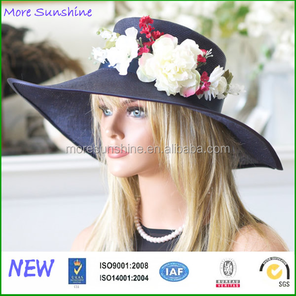 wholesale high quality finest vintage parisisal straw floppy hat custom