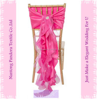 Fancy ruffle chair sash for wedding