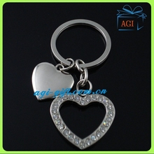 custom metal heart shaped keychain