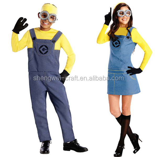 2017 new arrival minions costume adult