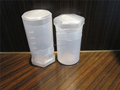clear plastic twist lock telescopic plastic box Pak