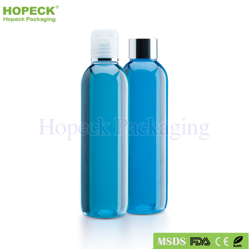 round shape PET plastic bottle for shampoo size 250ml