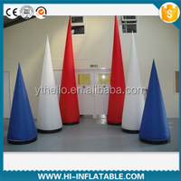 Florid decoration inflatable cone/inflatable ivory/inflatable tube for event,celebration