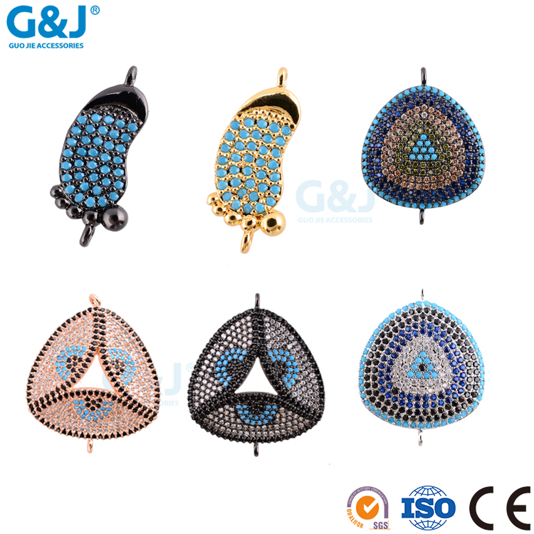 Guojie brand fantastic high quality ZC micro pave amazing different shapes women jewerly pendant